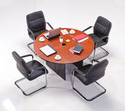 Meeting table. With chairs top view Royalty Free Stock Photos