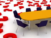 Meeting table discussion concept. Illustration Stock Photo