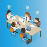 Meeting table Illustration Stock Photography