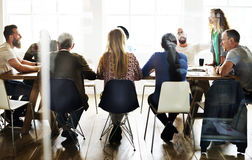 Meeting Table Networking Sharing Concept stock image