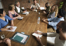 Meeting Table Networking Sharing Concept royalty free stock image