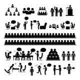 Meeting and talking symbol Stock Image