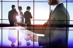 Meeting and technology concept Stock Photography