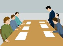 Meeting to solve the problem Royalty Free Stock Photos