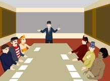 Meeting to solve the problem Royalty Free Stock Photo