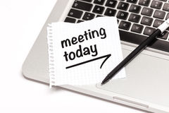 Meeting Today Stock Photo