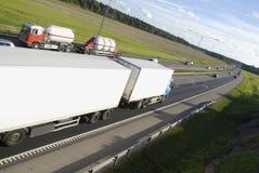 Meeting trucks Royalty Free Stock Image