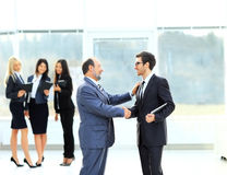 Meeting of two business partners Royalty Free Stock Photo