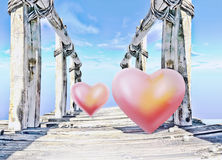 Meeting of two hearts. Royalty Free Stock Photography