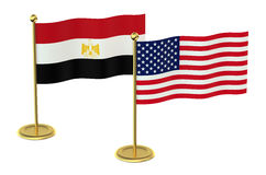 Meeting USA  with Egypt concept Royalty Free Stock Image