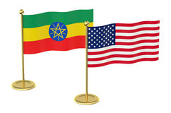 Meeting USA  with  Ethiopia concept Royalty Free Stock Photography