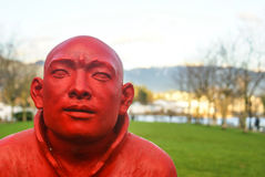 red monk Royalty Free Stock Images