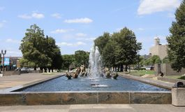 Meeting of the Waters by Carl Milles, St. Louis Stock Photos