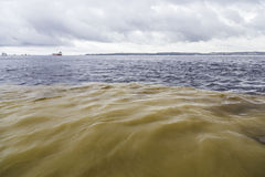 The Meeting of Waters in Rio Negro, Amazon Stock Photo