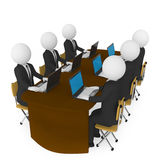 Meeting. On white background Royalty Free Stock Photos