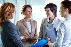 Meeting of women Royalty Free Stock Photography