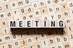 Meeting word concept stock image