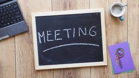 Meeting written Royalty Free Stock Photo