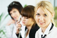 Meeting of young business ladies Stock Photos