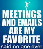 Meetings and emails Stock Image