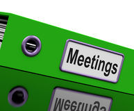 Meetings File To Show Minutes Of Company. Meetings File Show Minutes Of Company Discussion stock illustration