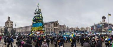 Meetingy για τη ευρωπαϊκή ένταξη στο κέντρο του Κίεβου Στοκ φωτογραφία με δικαίωμα ελεύθερης χρήσης