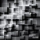Meetkunde Abstracte Achtergrondpatroon Vierkante Vectorillustratie Stock Foto