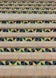 Meetkunde en geometrische cijfers in architectuur stock fotografie