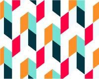 Meetkunde minimalistic affiche met een eenvoudig vorm en een cijfer royalty-vrije illustratie