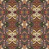 Meetkunde uitstekend bloemen naadloos patroon Royalty-vrije Stock Afbeelding