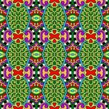Meetkunde uitstekend bloemen naadloos patroon Royalty-vrije Stock Foto