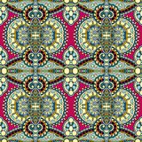 Meetkunde uitstekend bloemen naadloos patroon Stock Foto's