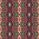 Meetkunde uitstekend bloemen naadloos patroon Stock Fotografie