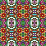 Meetkunde uitstekend bloemen naadloos patroon Stock Foto