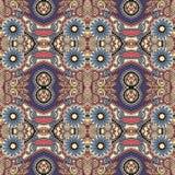 Meetkunde uitstekend bloemen naadloos patroon Stock Afbeelding