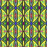 Meetkunde uitstekend bloemen naadloos patroon Royalty-vrije Stock Afbeeldingen