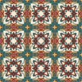 Meetkunde uitstekend bloemen naadloos patroon Stock Afbeeldingen