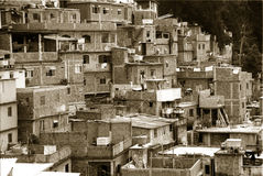 Meetkunde van Rio Favelas stock foto