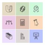 meetkunde, wetenschap, onderwijs, studies, eps pictogrammen geplaatst vector stock illustratie