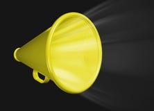 Megáfono amarillo Imagen de archivo libre de regalías