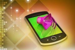 Megáfono con el teléfono elegante Fotografía de archivo libre de regalías