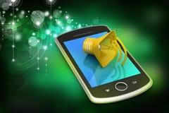 Megáfono con el teléfono elegante Imagen de archivo libre de regalías
