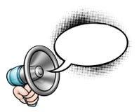 Megáfono de la burbuja del discurso de la historieta stock de ilustración