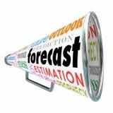 Megáfono o megáfono del pronóstico para la estimación Projectio de la predicción ilustración del vector
