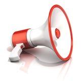 Megáfono rojo y blanco Imagen de archivo libre de regalías