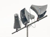 Megáfonos, altavoces Fotos de archivo