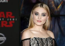 Meg Donnelly. At the World premiere of `Star Wars: The Last Jedi` held at the Shrine Auditorium in Los Angeles, USA on December 9, 2017 Stock Photography