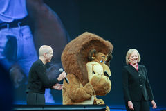 Meg Whitman and Jeffrey Katzenberg Royalty Free Stock Image