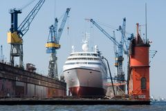 mega яхта Стоковое Фото