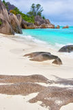 Mega beach. Mega caribical beach with tyrkis watter Royalty Free Stock Photo